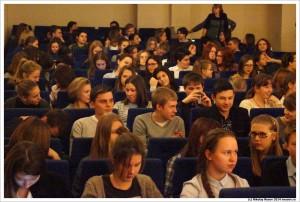 На литературном вечере, посвященном творчеству Н.Гумилева, в одной из московских школ