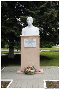Бюст Н.С.Гумилева в Шилово Рязанской области