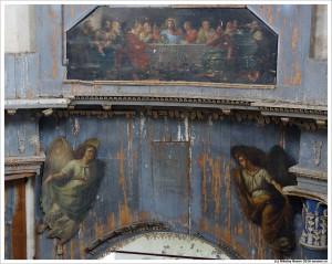 Фреска над алтарной частью церкви в селе Желудево